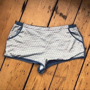 Victoria's Secret Blue silky patterned shorts M